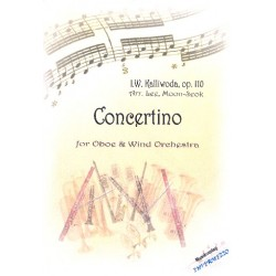 Kalliwoda, Johann Wenzel: Concertino op.110 : für Oboe und Blasorchester Partitur und Stimmen