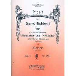 Prosit der Gemütlichkeit Band 2: für Klavier (mit Text)