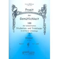 Prosit der Gemütlichkeit Band 1 : für Klavier (mit Text)