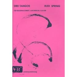 Spring, Rudi: 3 Tangos : für Tenorhackbrett, Akkordeon und Klavier Partitur und Stimmen