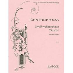 Sousa, John Philip: Sousa-Album : 12 weltberühmte Märsche für Klavier