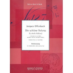 Offenbach, Jacques: Die schöne Helena : Klavierauszug (dt/fr) Buffo-Oper in 2 Teilen und 9 Bildern
