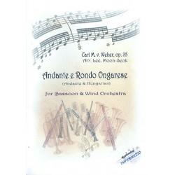 Weber, Carl Maria von: Andante e Rondo ongarese op.35 : für Fagott und Blasorchester Partitur und Stimmen
