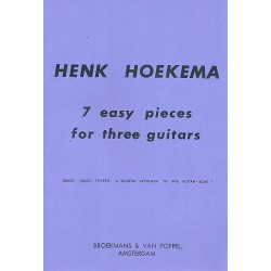 Hoekema, Henk: 7 easy Pieces : for 3 guitars SCORE