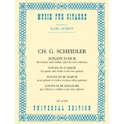 Scheidler, Christian Gottlieb: Sonate D-Dur : für Violine und Gitarre (2 Gitarren)