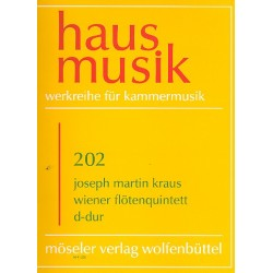 Kraus, Joseph Martin: Wiener Flötenquintett D-Dur : für Flöte und Streicher Partitur und Stimmen