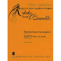 Campagnoli, Bartolommeo: Duett A-Dur Nr.2 : für Flöte und Violine
