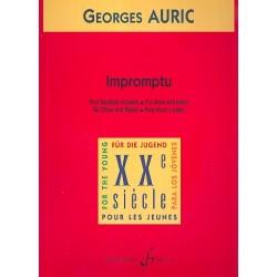 Auric, Georges: Impromptu : pour hautbois et piano