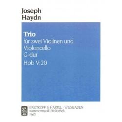Haydn, Franz Joseph: Trio G-Dur Hob.V:20 : für 2 Violinen und Violoncello Stimmen