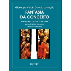 Lovreglio, Donato: Fantasia da concerto su motivi de La Traviata : per clarinetto et pianoforte