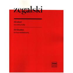 Zegalski, Jan: 30 Et├╝den : f├╝r 4 Pauken
