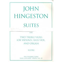 Hingeston, John: Fantasia-Suites a 3 vol.3 : for 3 viols and organ score and parts