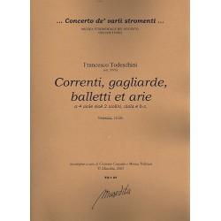 Todeschini, Francesco: Correnti, gagliarde, balletti et arie op.1 : a 4 viole (2 violin, viola) e Bc partitura