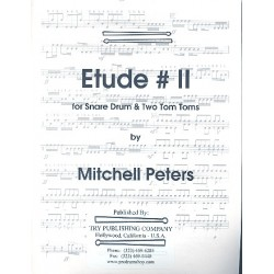 Peters, Mitchell: Etude no.2 for snare drum and 2 tom toms score