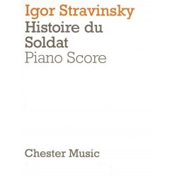 Strawinsky, Igor: The Soldier's Tale : vocal score to be read, played and danced in two parts (fr/en/dt)