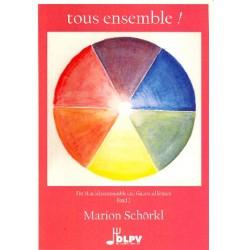 Tous ensemble Band 2 : für Mandolinen- Ensemble (Gitarre ad lib) Partitur