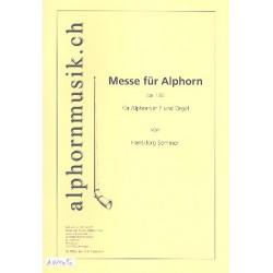 Sommer, Hans-Jürg: Messe op.136 : für 1-2 Alphörner in F und Orgel Stimmen