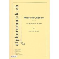 Sommer, Hans-Jürg: Messe op.136 : für 1-2 Alphörner in Fis und Orgel Stimmen