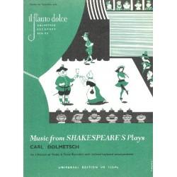 Theatermusik aus Shakespeares Zeit Band 1 : für 2 Blockflöten und Klavier Partitur und Stimmen