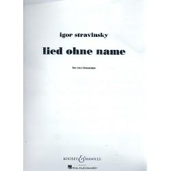 Strawinsky, Igor: Lied ohne Name : f├╝r 2 Fagotte