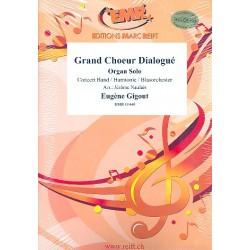 Gigout, Eugène: Grand choeur dialogué für Orgel und Blasorchester Partitur und Stimmen