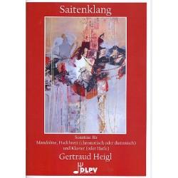 Heigl, Gertraud: Saitenklang : für Mandoline, Hackbrett und Klavier (Harfe) Stimmen