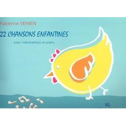 22 chanons enfantines : pour 2-3 violoncelle(s) et piano partition et parties
