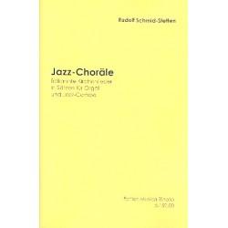 Schmid-Stetten, Rudolf: Jazz-Choräle : für Orgel und Jazz-Combo Schmid-Stetten Partitur und Stimmen
