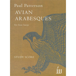 Patterson, Paul: Avian Arabesques : for 4 harps score and parts