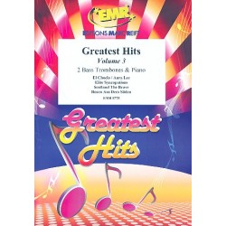 Greatest Hits vol.3 : for 2 bass trombones and piano (percussion ad lib) score and parts