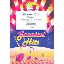 Greatest Hits vol.3 : for 2 trombones and piano (percussion ad lib) score and parts