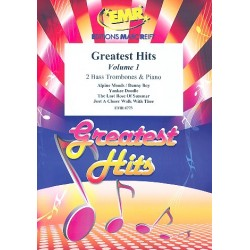 Greatest Hits vol.1: for 2 bass trombones and piano (percussion ad lib) score and parts
