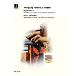 Mozart, Wolfgang Amadeus: Orgelwerke Band 5 : 3 Stücke für Orgel zu 4 Händen