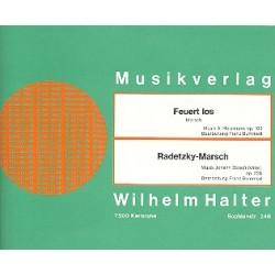 Holzmann, Abe: Feuert los op.103 : Marsch f├╝r Blasorchester