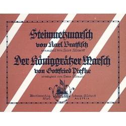 Piefke, Gottfried: Der K├Âniggr├ñtzer-Marsch und Steinmetzmarsch : f├╝r Blasorchester