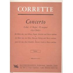Corrette, Michel: Concerto C-Dur La choisy : für Horn solo, 2 Oboen, Fagott, Streicher und Bc Partitur (Kopie)