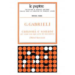 Gabrieli, Giovanni: Canzoni e sonate : pour divers instruments (1615) le pupitre