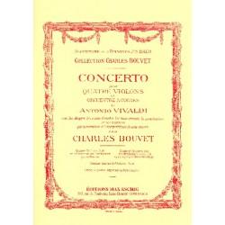 Vivaldi, Antonio: Concerto si mineur op.3,10 pour 4 violons et piano parties