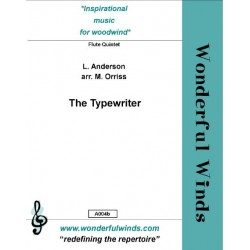 Anderson, Leroy: The Typewriter : for 5 flutes and percussion (typewriter ad lib) score and parts