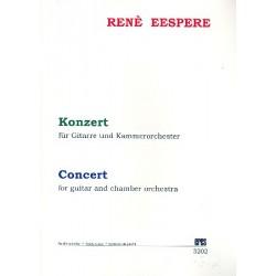 Eespere, René: Konzert : für Gitarre und Kammerorchester Studienpartitur