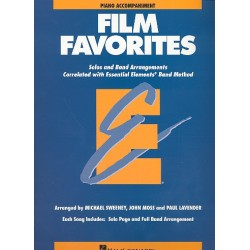 Film Favorites : for concert band piano accompaniment