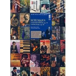Schumann, Robert: 3 Fantasy Pieces op.73 and 3 Romances op.94 (+CD) : for clarinet and piano clarinet part