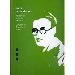 Papandopulo, Boris: Concerto : for alto saxophone and orchestra score