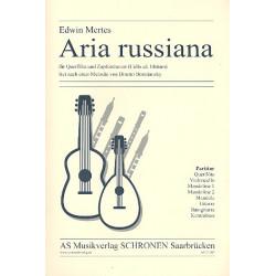 Mertes, Edwin: Aria russiana für Flöte und Zupforchester (Violoncello ad lib) Partitur