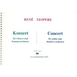 Eespere, René: Konzert : für Gitarre und Kammerorchester Partitur