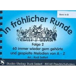 In fr├Âhlicher Runde Band 2 : f├╝r Blasorchester Bass in B