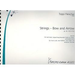 Fleischer, Tsippi: Strings - Bow and Arrow op.20 für Violine solo, Violinen, Violen und arabische Trommel Partitur und Stimmen