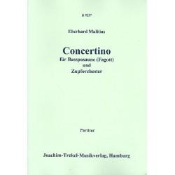 Malitius, Eberhard: Concertino : für Bassposaune (Fagott) und Zupforchester Partitur