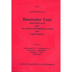 Glöckner, Gottfried: Russischer Tanz : für Klarinette (Melodieinstrument) und Zupforchester Partitur