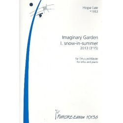 Lee, Hope: Imaginary Garden Nr.1 - Snow-in-Summer : für Erhu und Klavier Partitur